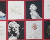 """Marilyn Monroe Sexy Pin Up Star de cinéma lèvres 23 """"x 44» panneau tissu Robert Kaufman"""