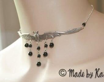 Gothic Choker Necklace Victorian BAT Vampire