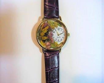 Women's Watch, Wrist Watch for Women, Florida Flowers, Pressed Flower Watch, Women's Wrist Watch, Florida Wildflowers Watch,Mimosa,Coreopsis