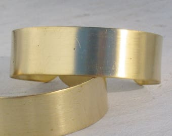 Smooth Unfinished Raw Brass 3/4 inch cuff bracelet blank 1513 - 7 pieces