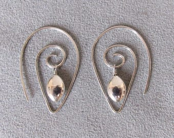 Versatile Convertible Earrings, Hand-formed of Sterling Silver