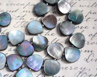 20% OFF SALE Tahitian South Sea Pearl Briolette Beads 16mm, QTY12, Calibrated in Size