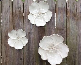 Handmade Ceramic Wall Cherry Blossom Flowers