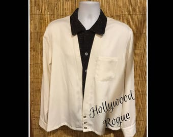 1950s reproduction Hollywood Rogue fleck v-panel Size medium