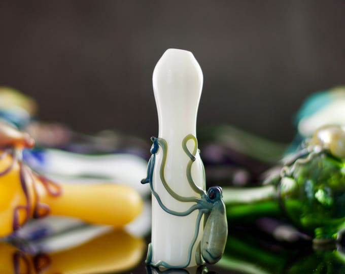 18 Octopus Glass Chillums Wholesale / 18pc Octopus Pipes / Glass Hand Pipe / Glass Bat / Heady Glass / Custom Glass Pipes / Made to Order
