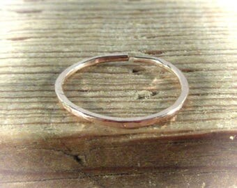Toe Rings Adjustable Pink Gold Filled Full Hammered - Thin Toe Ring, Pink Gold Toe Ring, Rose Gold Toe Ring, Hammered Toe Ring, Yoga Toe