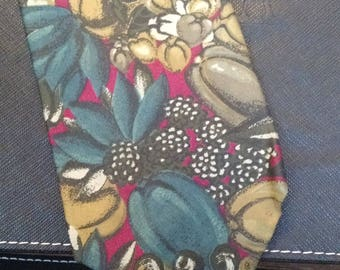 Enrico Coveri - Vintage Necktie - Abstract Floral Print - Free U.S. Shipping