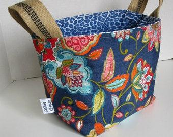 Fabric Storage Bin Knitting Tote Kids Room Organizer