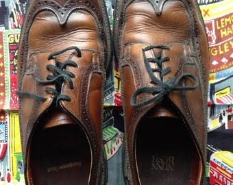 S a l e 60's Nunn Bush Longwings. Brown. 11E. Wing tips.