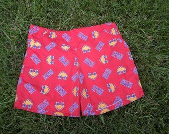 1980s Vintage KU Jayhawk drawstring shorts