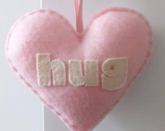 Love to HUG - Baby Pink Love Heart Decoration