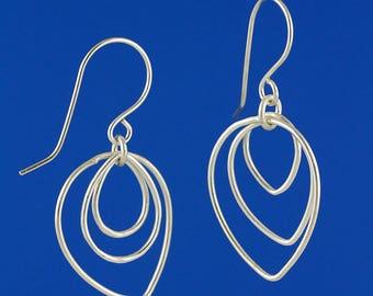 Teardrop Linked Dangle Earrings