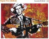 BACK to SCHOOL SALE Hank Williams - Ramblin' Man- 24 x 18 High Quality Art Poster