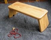 Stillpoint Meditation Benches / Folding Rounded Leg / Red Oak