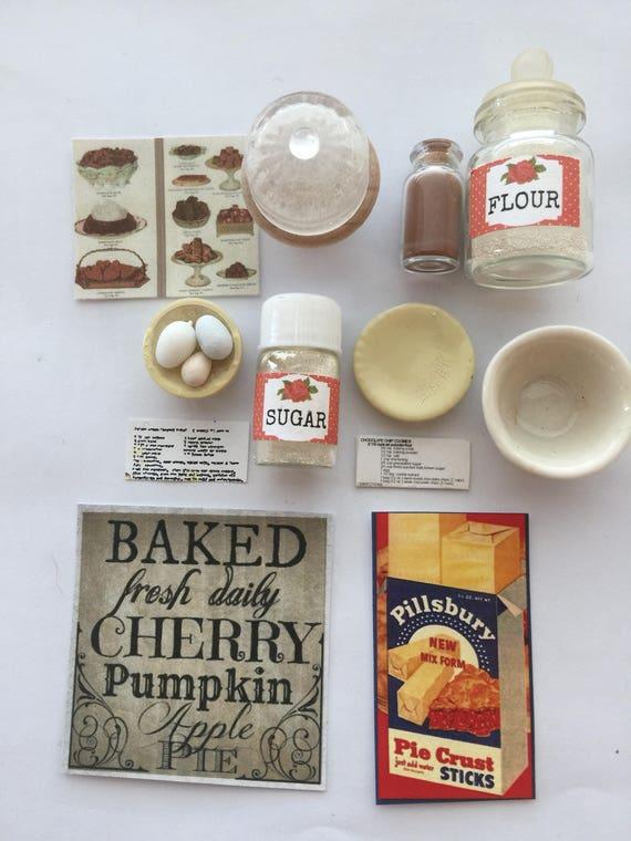 Baking Accessories - Destash Sale Miniature Dollhouse Scale