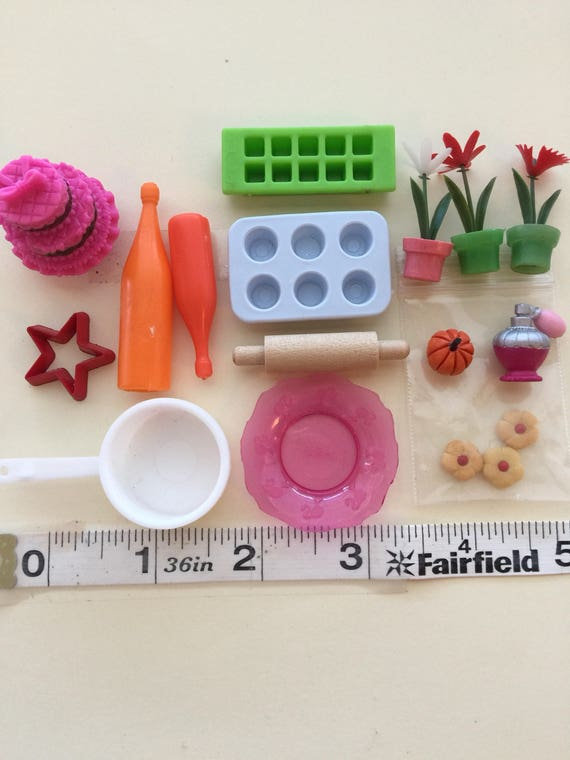 Doll Kitchen Accessories - 1:6 Fashion doll scale baking kitchen cooking accessories