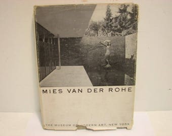 Mies Van Der Rohe Book Museum of Modern Art 1947 HB/DJ 1st Ed. Mid Century Furniture House Design