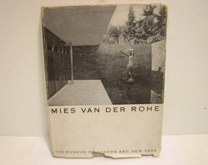 Mies Van Der Rohe Book, Museum of Modern Art, 1947 HB/DJ 1st Ed. Mid Century Furniture House Design