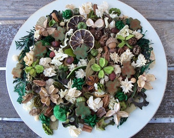 Luck of the Irish Country Potpourri, St Patrick's Day Decoration, Shamrock, Green, Spring Potpourri, Refresher Oil Included
