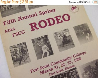 1986 Fort Scott Community College Rodeo Program - Kansas - Vintage Coke and Budweiser ads
