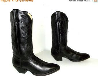 Black  on black leather Dan Post brand cowboy boots size 9.5 D or cowgirl size 11