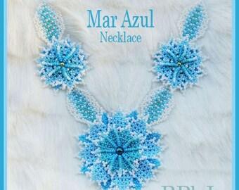 Bead Tutorial - Mar Azul Necklace - Huichol beadwork