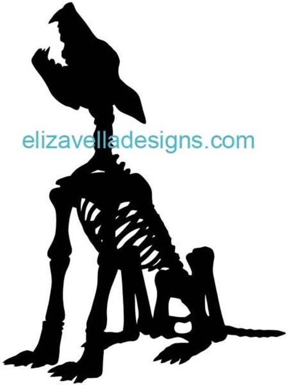 animal anatomy dog skeleton printable art digital download image graphics clipart png clip art halloween goth digital stamp
