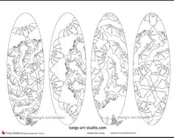 4 printable mandala coloring bookmarks 020 oval shapehalloween bookmarks printable coloring - Halloween Bookmarks To Color
