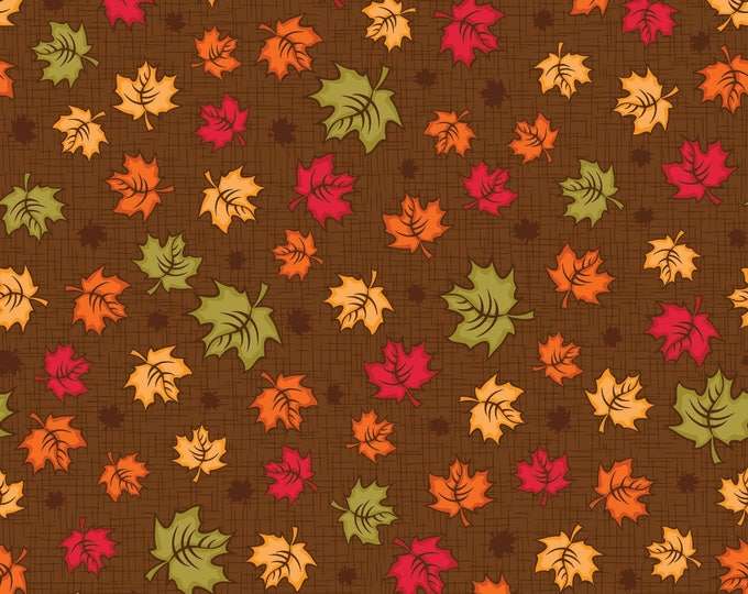 FALL THANKSGIVING FABRIC, Maple Leaves by Patrick Lose Cotton Fabric 44 inches wide