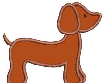 SALE 65% OFF Applique Dachshund Dashound Doxie Dog Machine Embroidery Designs Instant Download Sale 4x4 and 5x7