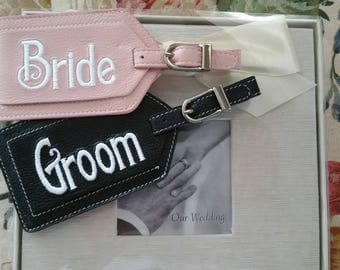 Luggage Tag--Bride and Groom Honeymoon Tags