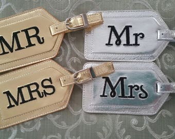 Luggage Tag--Silver or Gold Wedding Anniversary