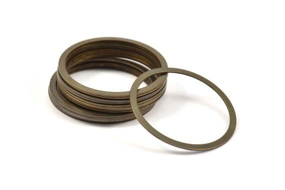 Brass Choker Finding, 20 Antique Brass Connector Rings (25mm) Pen 450 K033