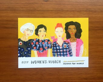 Women's March postcards (set of 20)