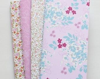 Floral Traveler's Notebook Inserts Set of 4