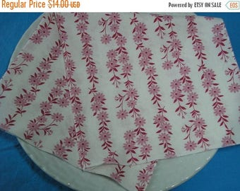 CLEARANCE SALE Cloth Napkins Pink Mauve Floral Lunch Dinner Set of 4