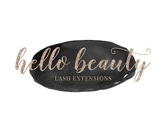 Lash Logo Photography Logo Watermark Logo Watermark Watercolor Logo Rose Gold Logo Rose Gold Branding Premade Logo Design Lash Extensions