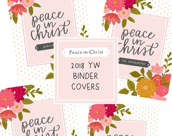 2018 Young Womens Binder Covers - Peace in Christ