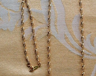 """On sale Napier 2mm Twisted Gold tone Chain Necklace, 30"""", Vintage (AR2)"""
