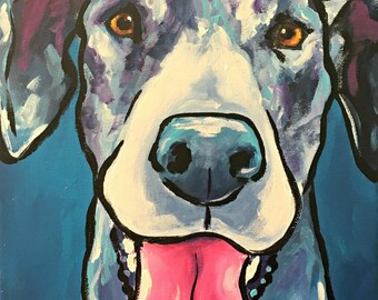 11x14 Merle great dane Print (b)