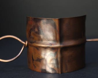 Copper Foldformed Hair Cuff