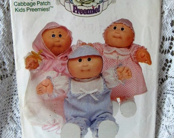 1984 Butteric Cabbage Patch Kids Preemies Sewing Pattern