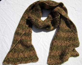 camouflage scarf handknitted