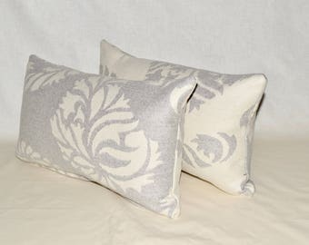 Wool Paisley Lumbar pillow cover