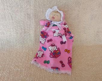 Soft sculptured baby doll puppet