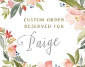 Reserved for Paige - Tuscan Olive Branch Table Number Cards