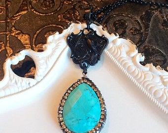 SALE 20% Off Boho Jewelry - Turquoise - Boho Necklace - Pendant - BOHO NYC Turquoise - Passport Collection