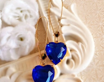 SALE 20% Off Best Valentines Gift - Sapphire - Heart Jewelry - DELIGHT Blue