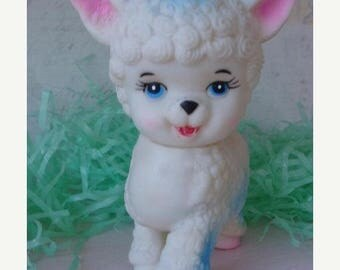 ONSALE Antique Kitsch1950s Original Squeak Toy Lamb