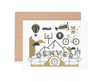 Denver Letterpress Greeting Card - Blank Card | Greeting Cards |